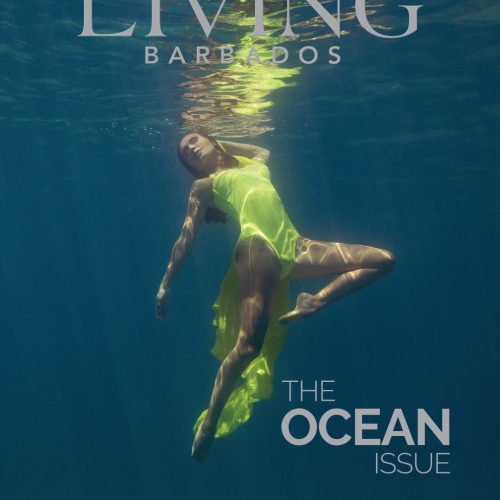 Underwater fashion photography for Living Barbados Magazine