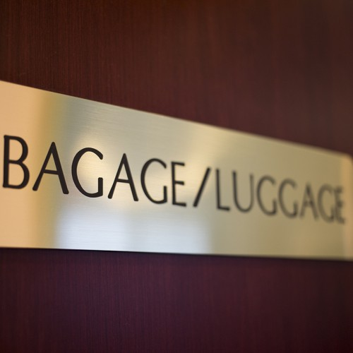 baggage sign
