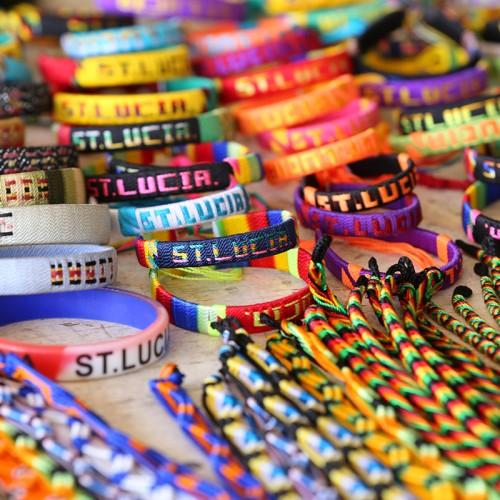 bracelets in market in Saint Lucia