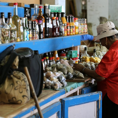 market vendor in Saint Lucia
